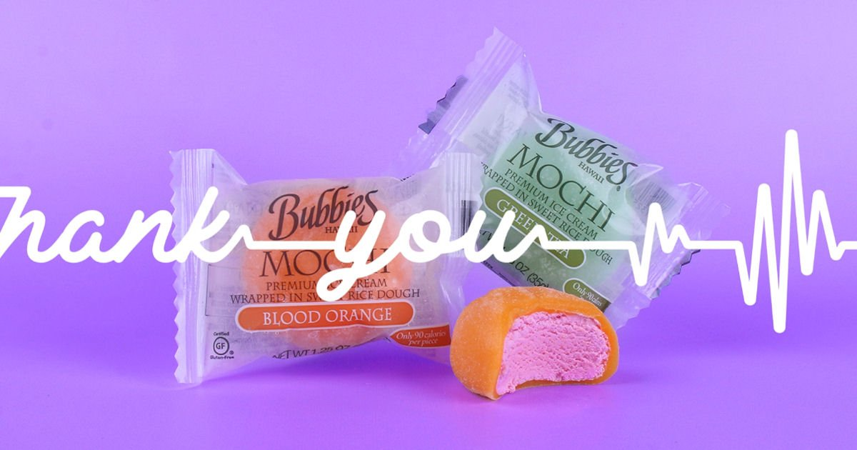 Free Bubbies Ice Cream Care Package for Healthcare Workers