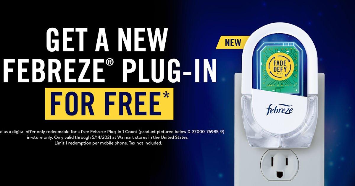 Free Febreze Plug-In at Walmart