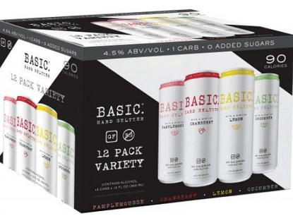 FREE Basic Hard Seltzer Basic Hard Seltzer 12-Pack after Rebate