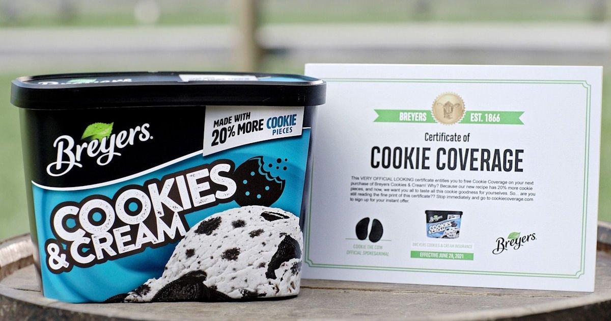 Free Breyers Ice Cream Product