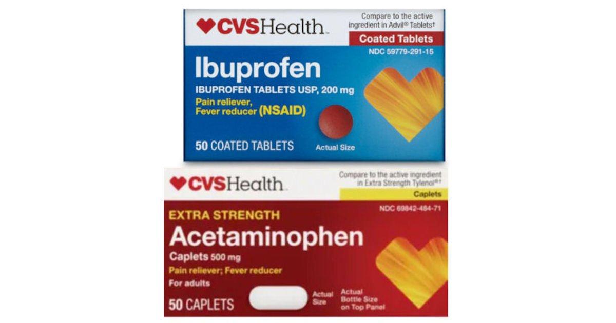 Free CVS Health Acetaminophen or Ibuprofen at CVS