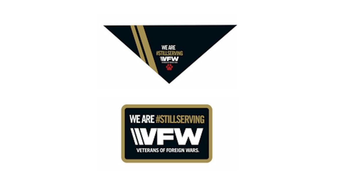 Free VFW Still Serving Dog Bandana or Patch