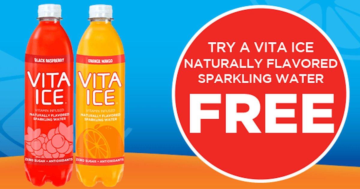 Free Vita Ice Sparkling Water at Jewel-Osco
