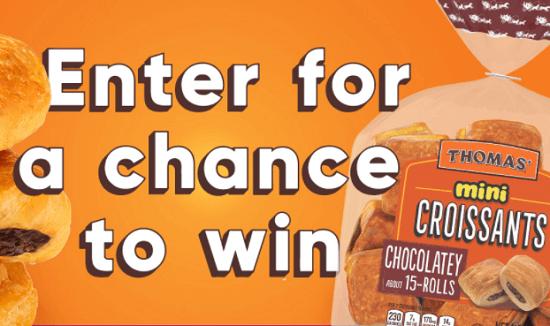 Thomas' Chocolatey Mini Croissants Sweepstakes (1,025 Winners!)